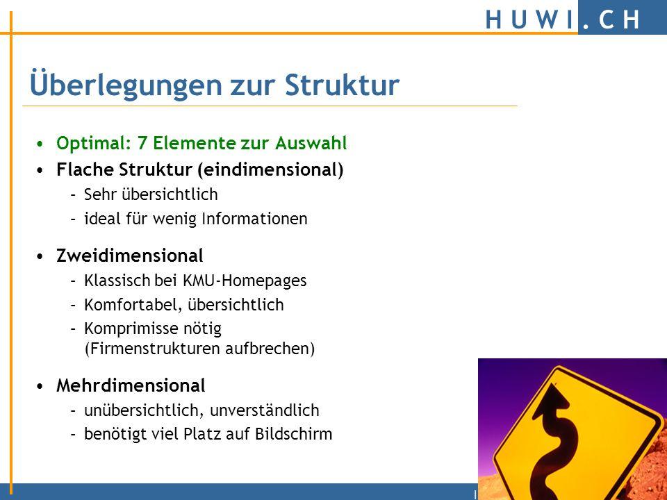 H U W I. C H | Logische Struktur