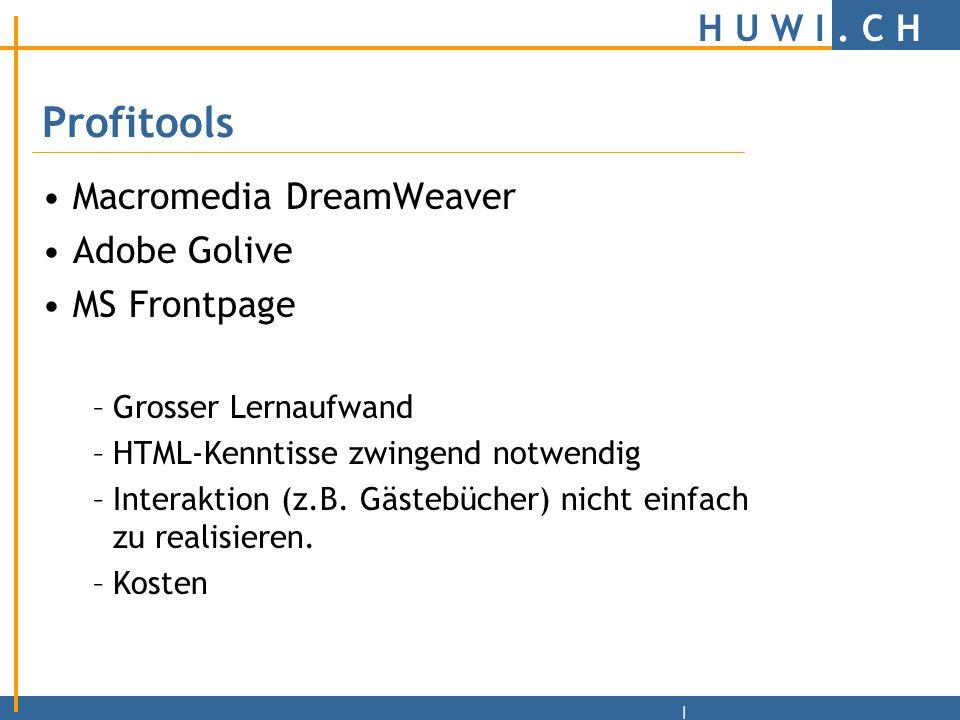 H U W I.C H | MS Word Nur einfachste Pages erstellbar.