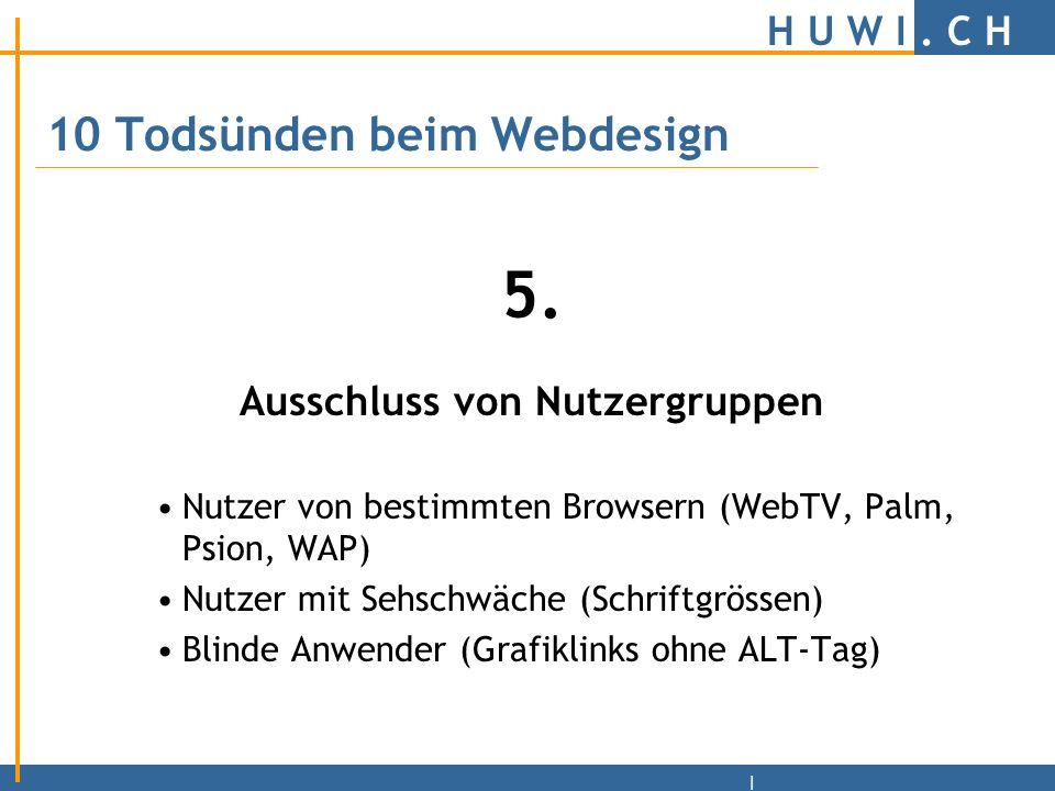 H U W I.C H | Schrifttypen Zierschriften –Gemässigt und gezielt einsetzen.