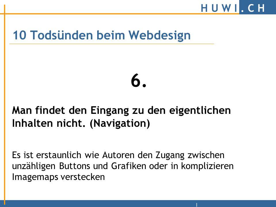 H U W I.C H | Ansicht mit einem Text-Browser.