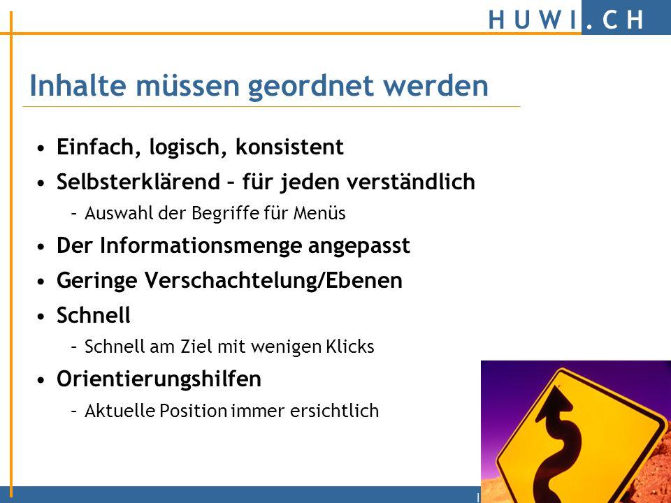 H U W I.C H | Am Anfang steht die Idee. Was will ich mit meiner Homepage.
