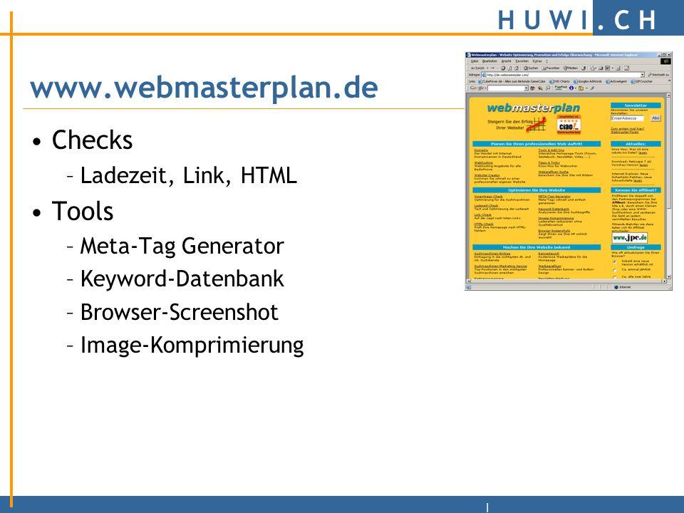 H U W I. C H | 10 Todsünden beim Webdesign http://www.snafu.de/~tilman/xenulink.html