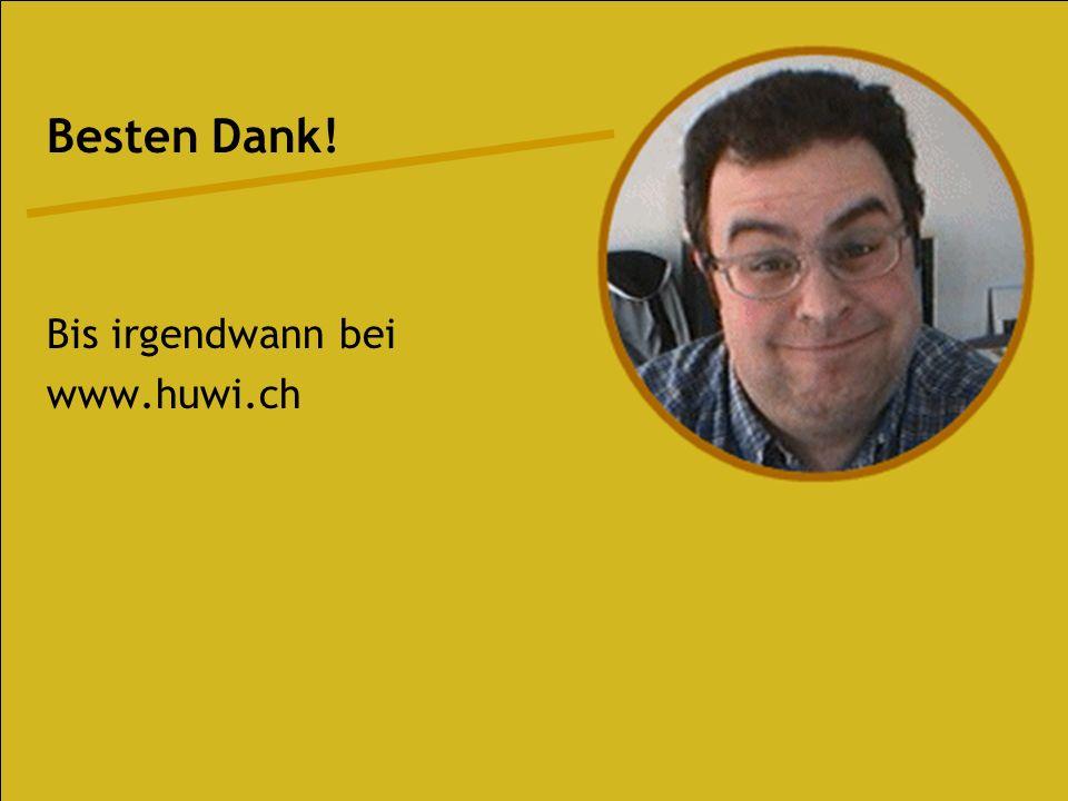 H U W I. C H | Dr. Web (www.drweb.de) Die Infoquelle für Webdesigner Zahlreiche Tipps und Tricks