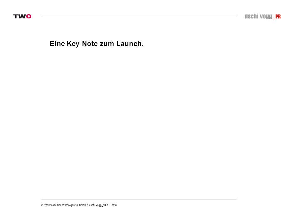 Eine Key Note zum Launch.