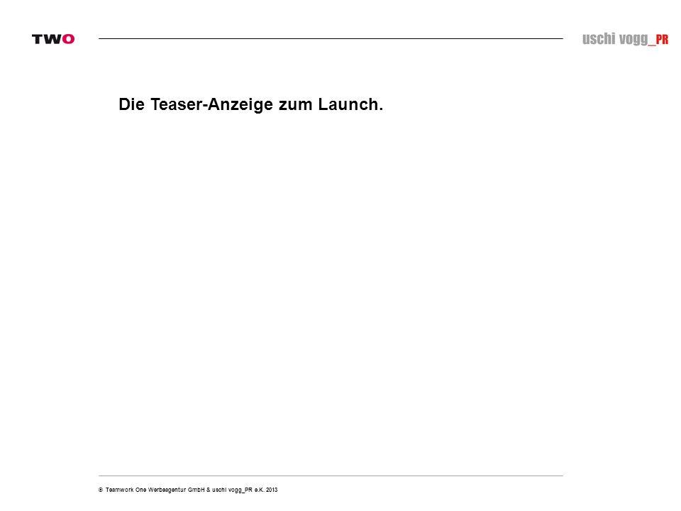 Die Teaser-Anzeige zum Launch.