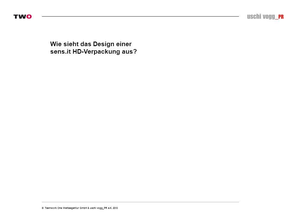 Wie sieht das Design einer sens.it HD-Verpackung aus?