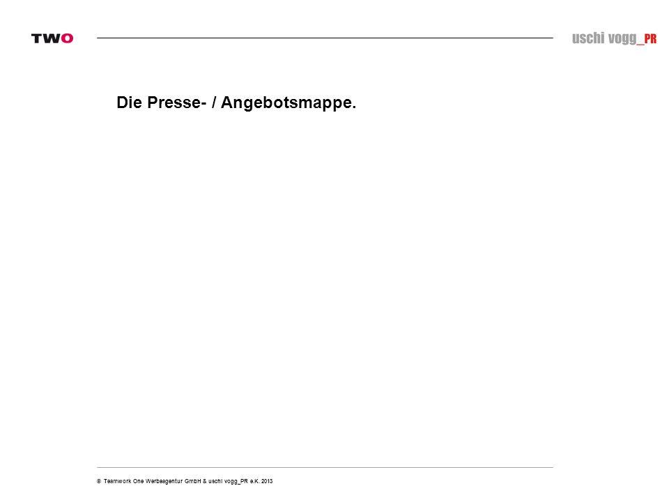 Die Presse- / Angebotsmappe.
