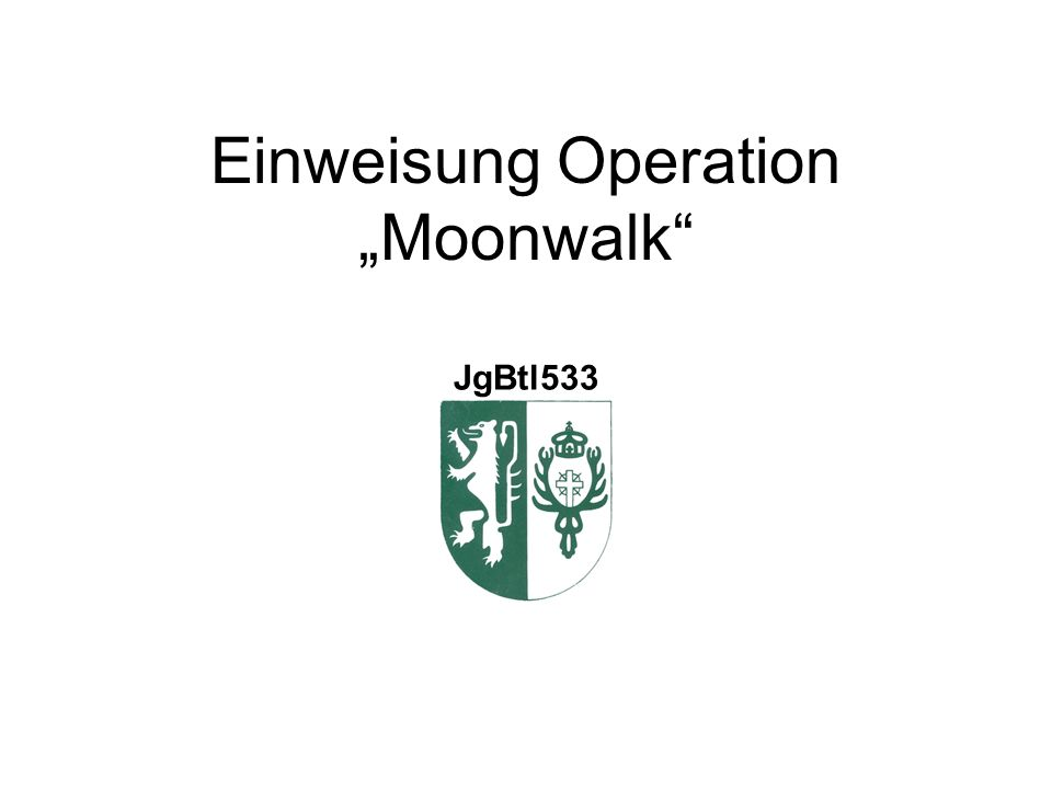 "Einweisung Operation ""Moonwalk JgBtl533"