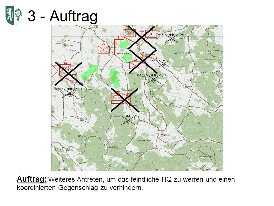 Auftrag: Weiteres Antreten, um das feindliche HQ zu werfen und einen koordinierten Gegenschlag zu verhindern. (BMP2)(±) ? ? D30 120 mm (±) ? (-) ? ? ?