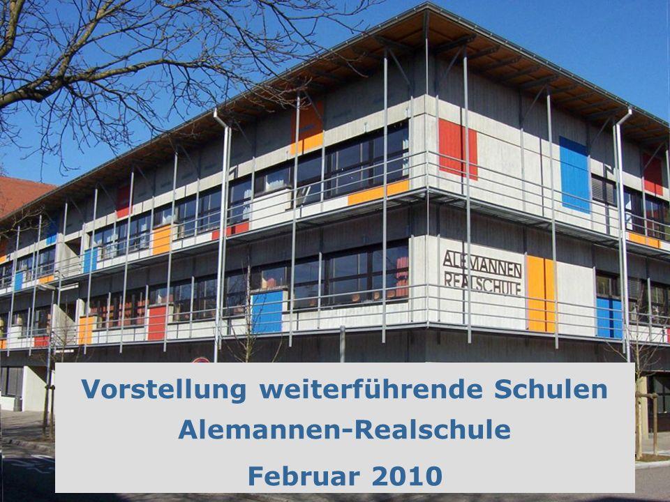Vorstellung weiterführende Schulen Alemannen-Realschule Februar 2010