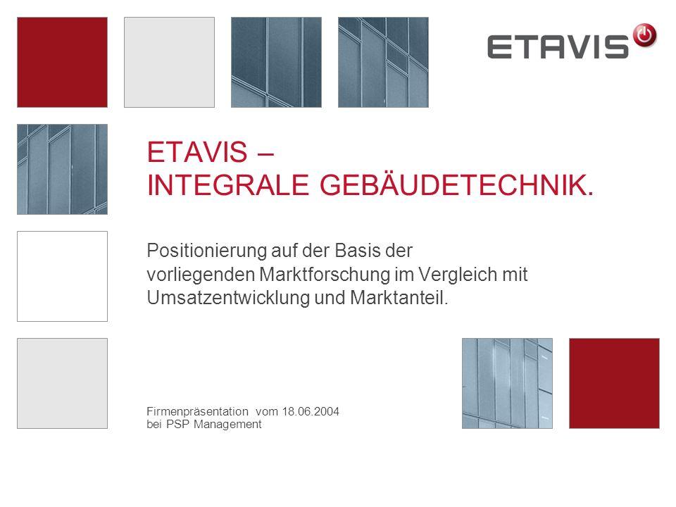 Firmenpräsentation vom 18.06.2004 bei PSP Management ETAVIS – INTEGRALE GEBÄUDETECHNIK.