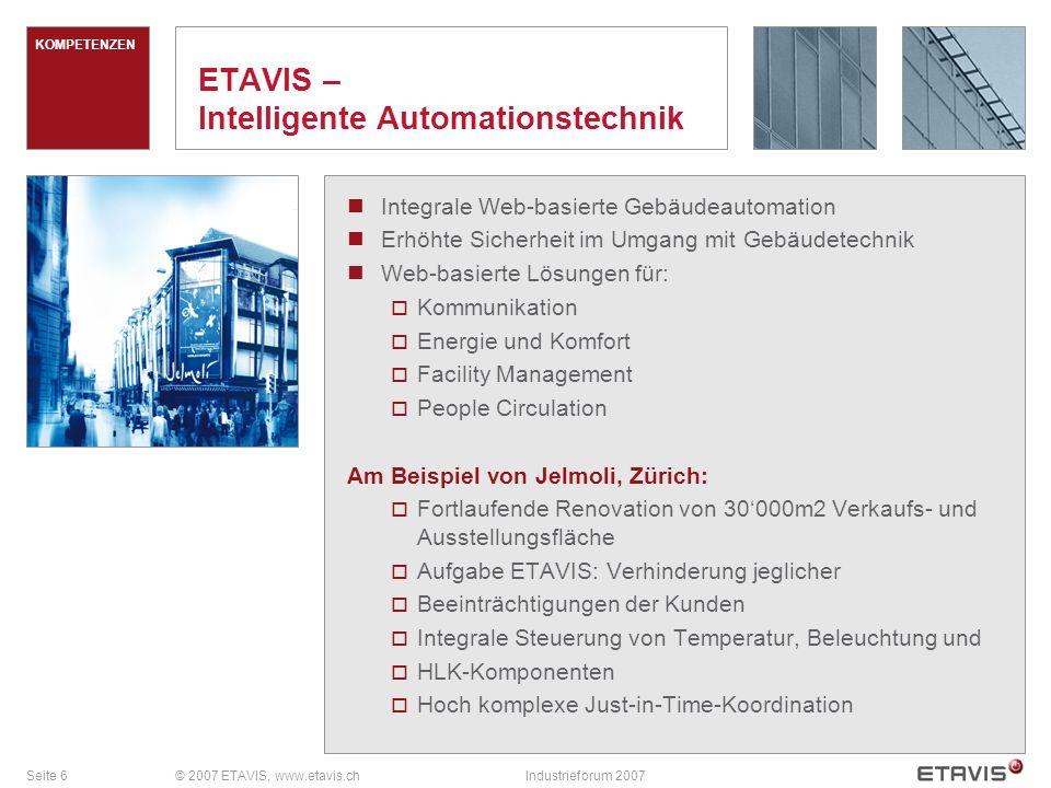 Seite 7© 2007 ETAVIS, www.etavis.chIndustrieforum 2007 FAKTEN Zwei und zwei sind gar vier.