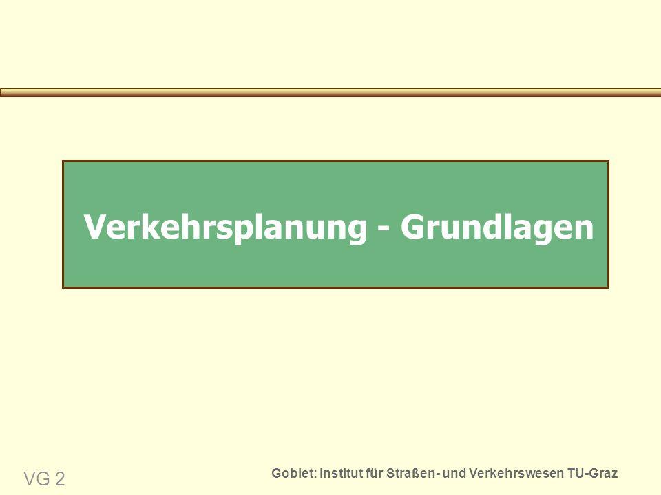 Gobiet: Institut für Straßen- und Verkehrswesen TU-Graz VG 2 Verkehrsplanung - Grundlagen