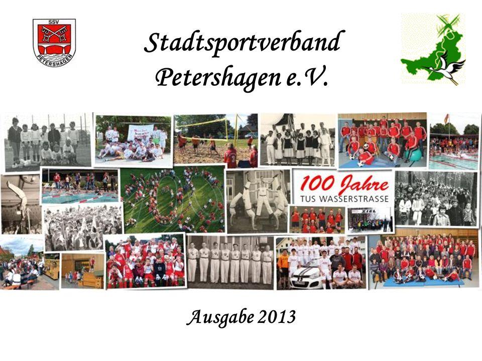 Stadtsportverband Petershagen e.V. Ausgabe 2013