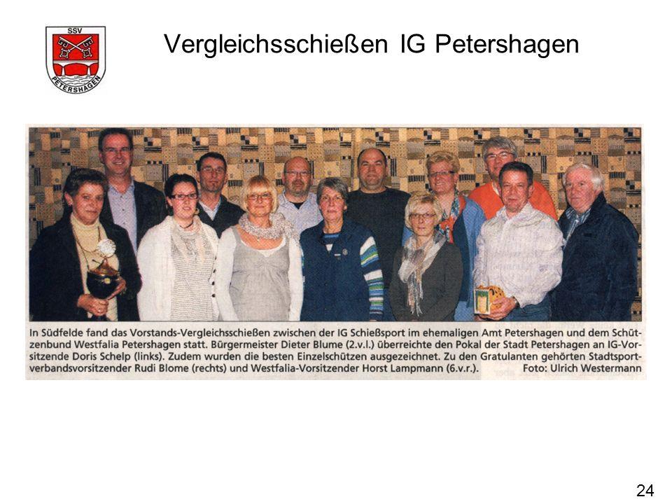 Vergleichsschießen IG Petershagen 24