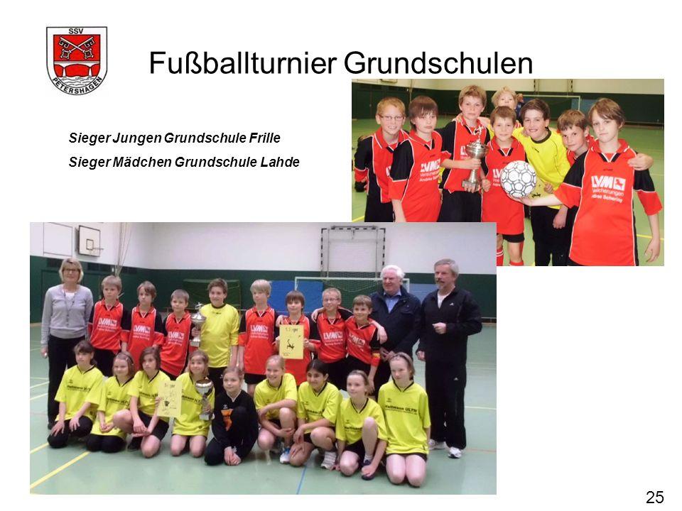 Fußballturnier Grundschulen 25 Sieger Jungen Grundschule Frille Sieger Mädchen Grundschule Lahde