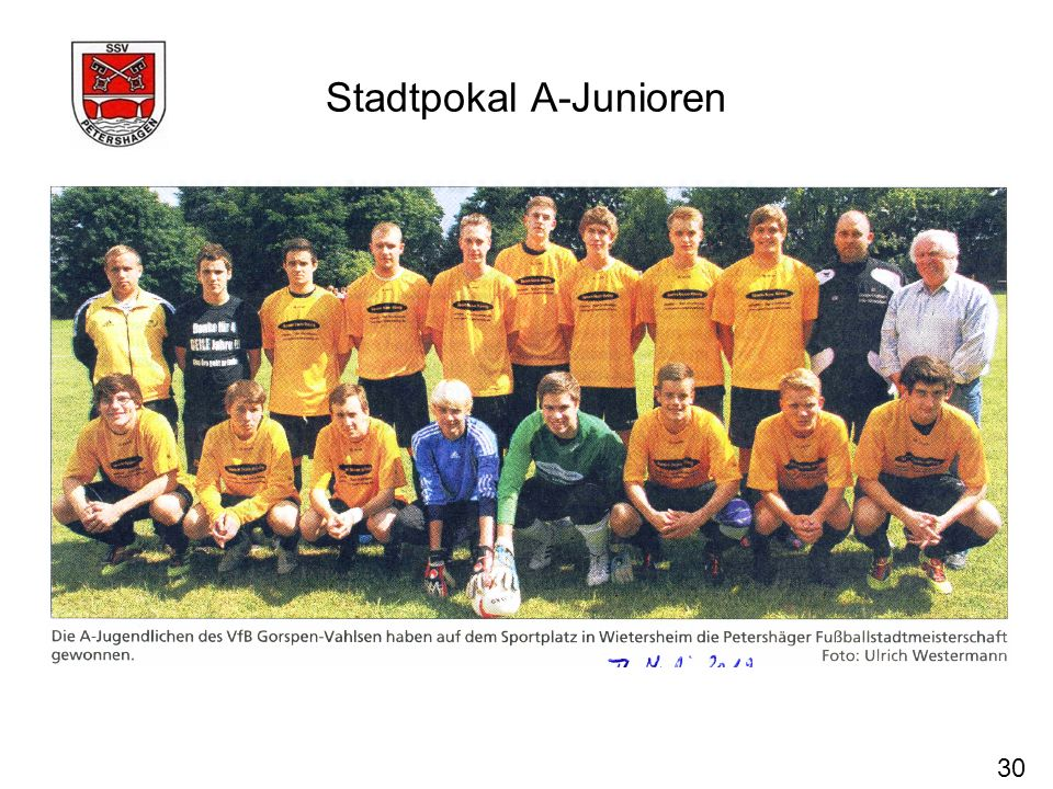 Stadtpokal A-Junioren 30