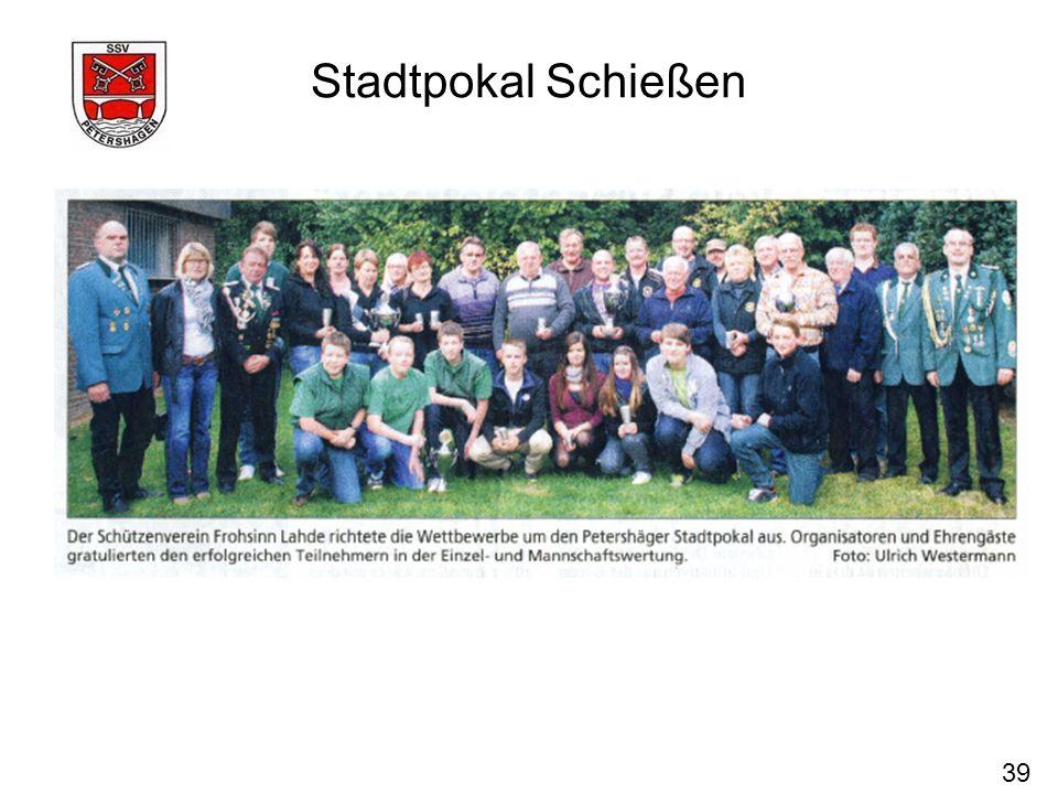 39 Stadtpokal Schießen
