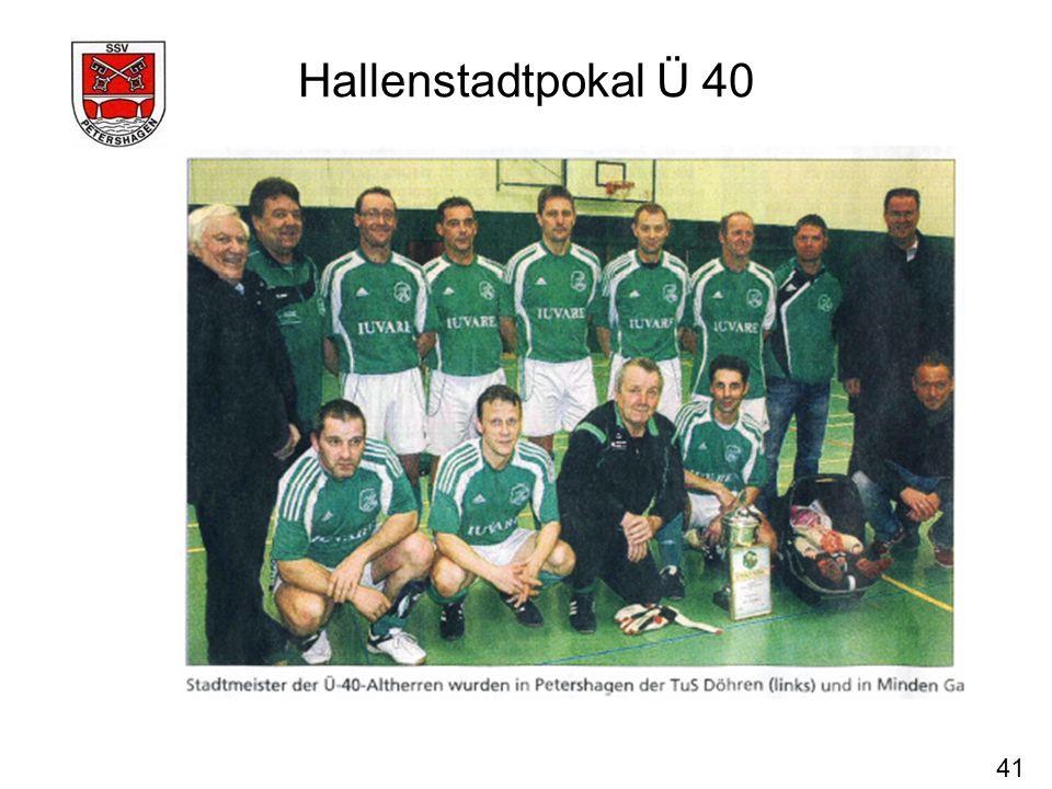 41 Hallenstadtpokal Ü 40