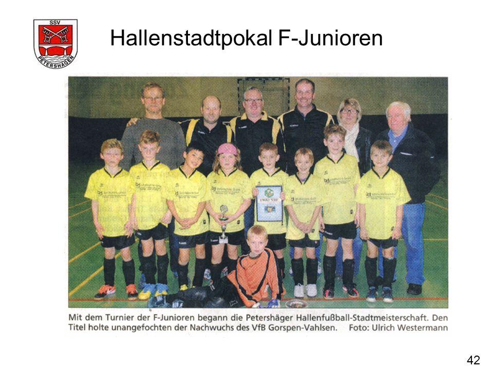 42 Hallenstadtpokal F-Junioren