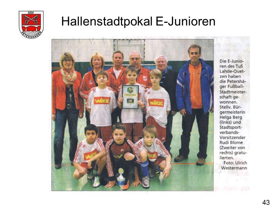 43 Hallenstadtpokal E-Junioren
