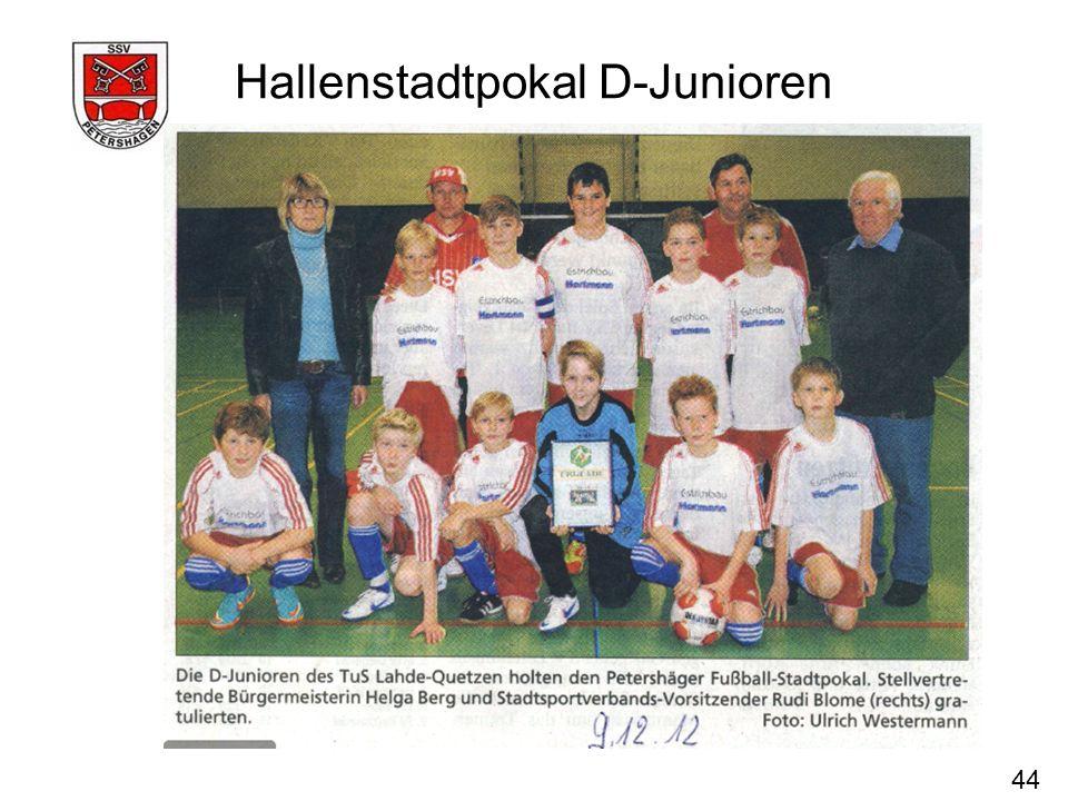 44 Hallenstadtpokal D-Junioren