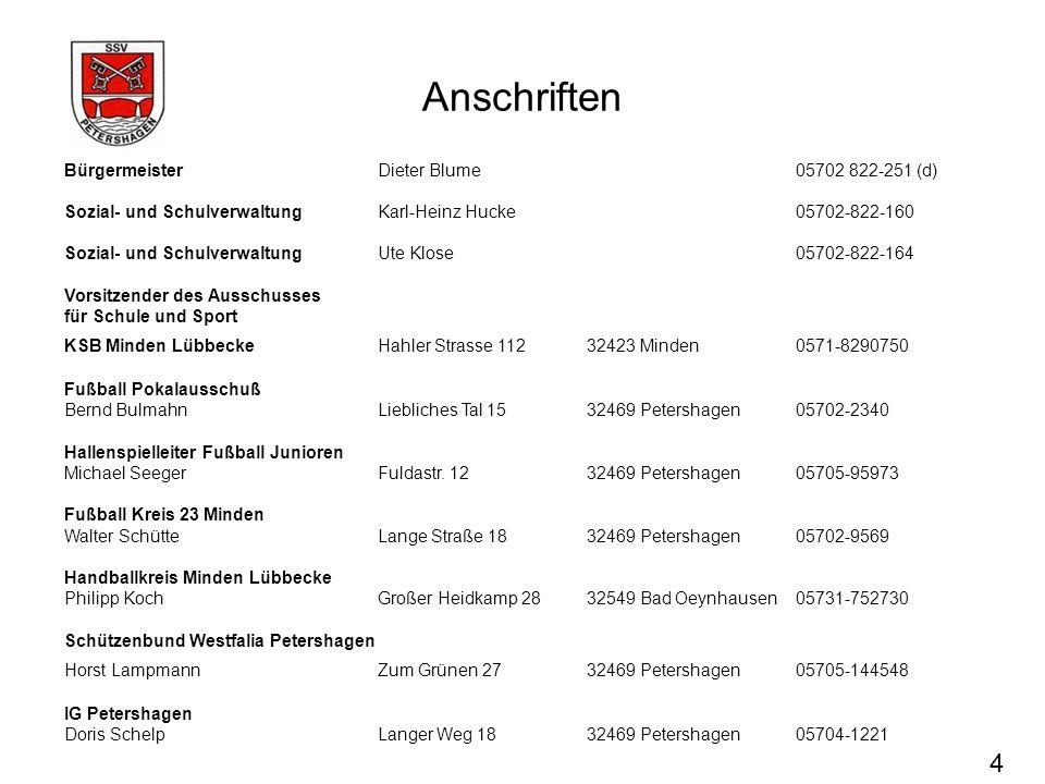 Anschriften Bürgermeister Dieter Blume 05702 822-251 (d) Sozial- und SchulverwaltungKarl-Heinz Hucke 05702-822-160 Sozial- und SchulverwaltungUte Klos