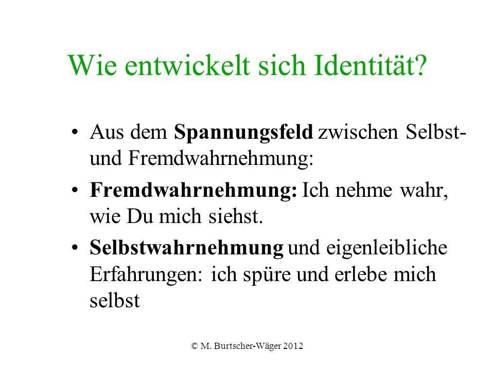© M. Burtscher-Wäger 2012 Wie entwickelt sich Identität.