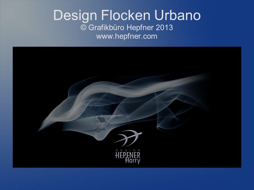 Design Flocken Urbano © Grafikbüro Hepfner 2013 www.hepfner.com