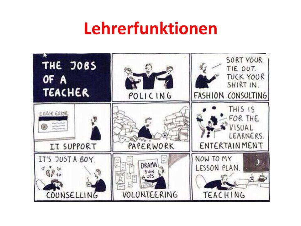 Eine abschließende Überlegung Aufgabe der Lehrerausbildung im Fach Deutsch wäre logischerweise die Entwicklung von Kompetenzen in den genannten Lehrerfunktionen!