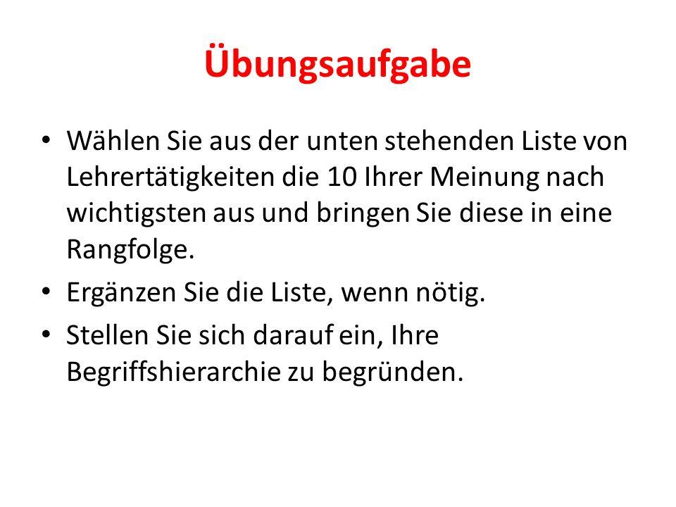 Tätigkeiten des Deutschlehrers Textsortenwissen vermitteln Literaturgeschichtliches Wissen vermitteln Sprachbewusstsein entwickeln Schriftl.