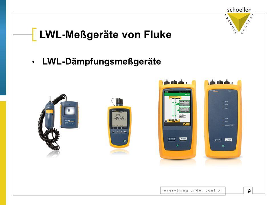 9 LWL-Meßgeräte von Fluke LWL-Dämpfungsmeßgeräte