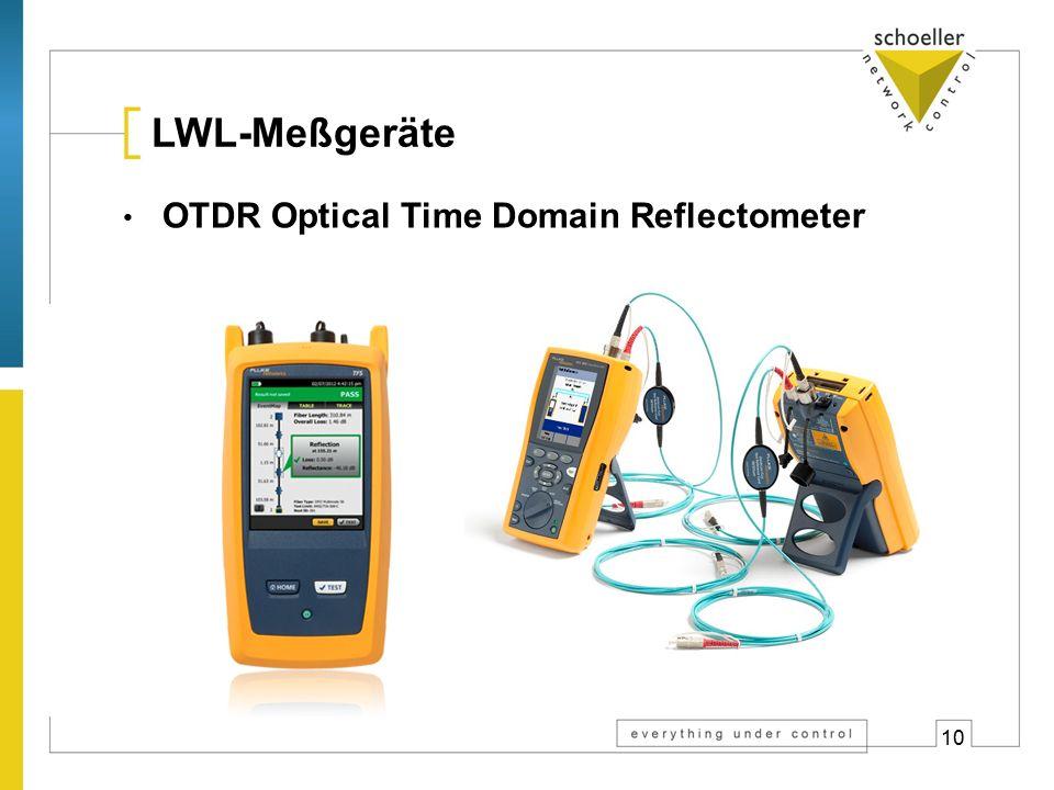 10 LWL-Meßgeräte OTDR Optical Time Domain Reflectometer