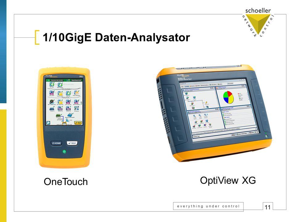 11 1/10GigE Daten-Analysator OptiView XG OneTouch