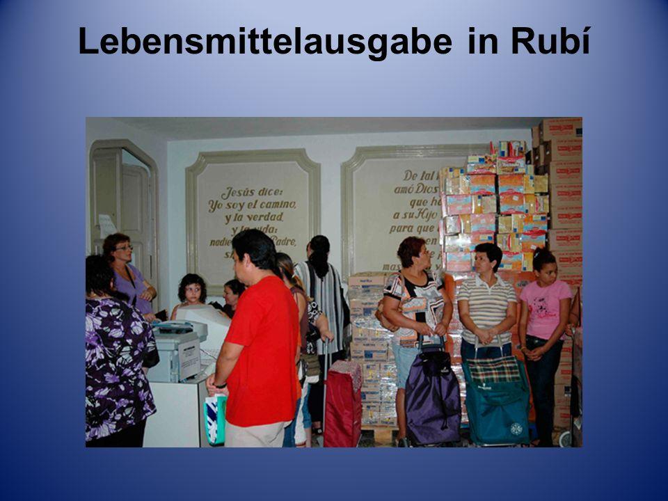 Lebensmittelausgabe in Rubí