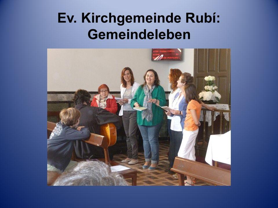 Ev. Kirchgemeinde Rubí: Gemeindeleben