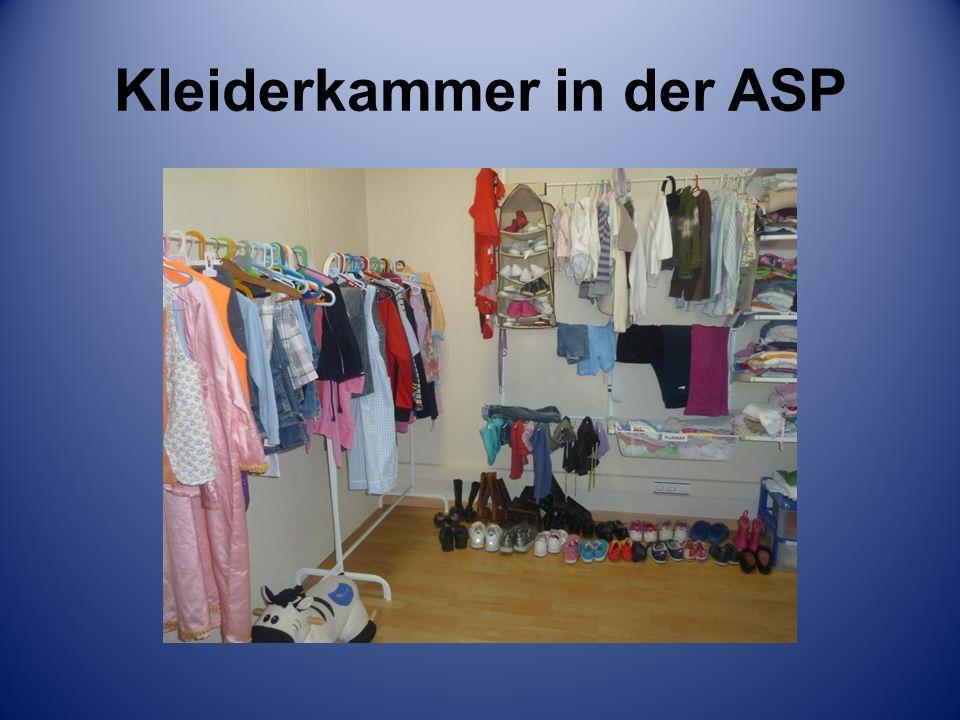 Kleiderkammer in der ASP