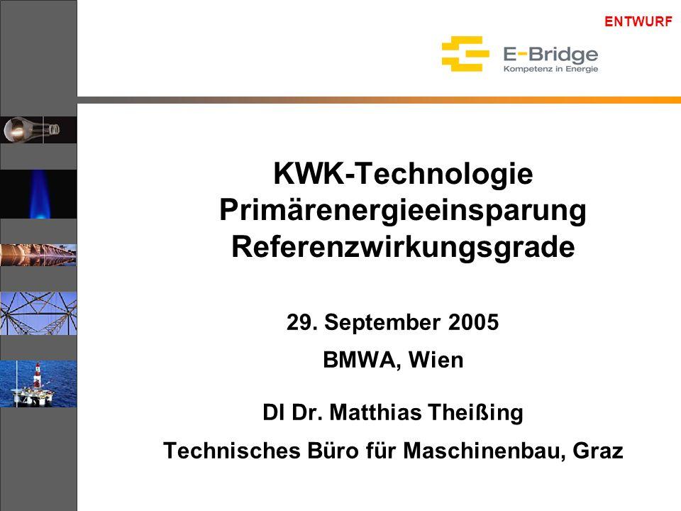 ENTWURF 29.September 2005KWK Potentialstudie 2 Inhalt  KWK-Technologien.