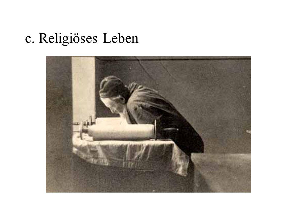 c. Religiöses Leben