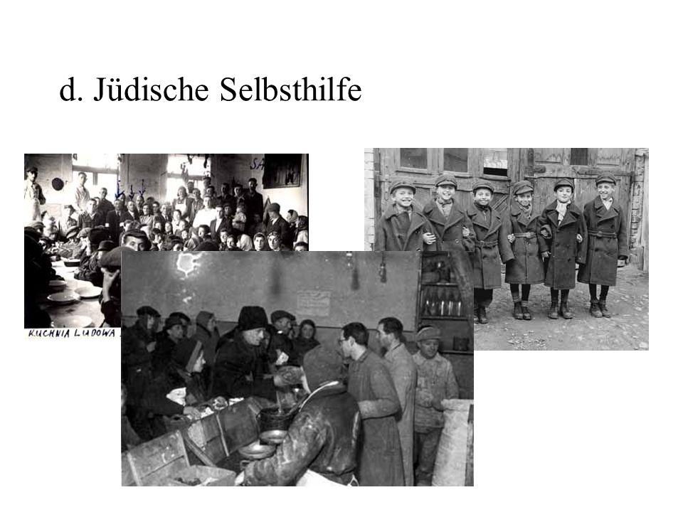 d. Jüdische Selbsthilfe