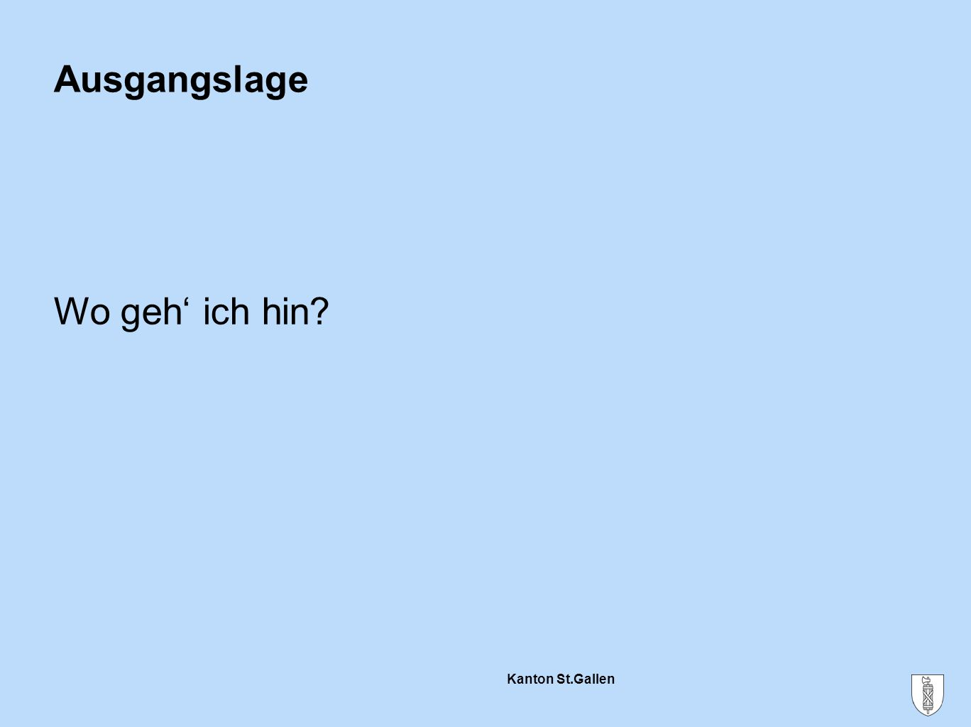 Kanton St.Gallen Das Bildungssystem der CH Berufliche Grundbildung Obligatorische Schulzeit Eidg.