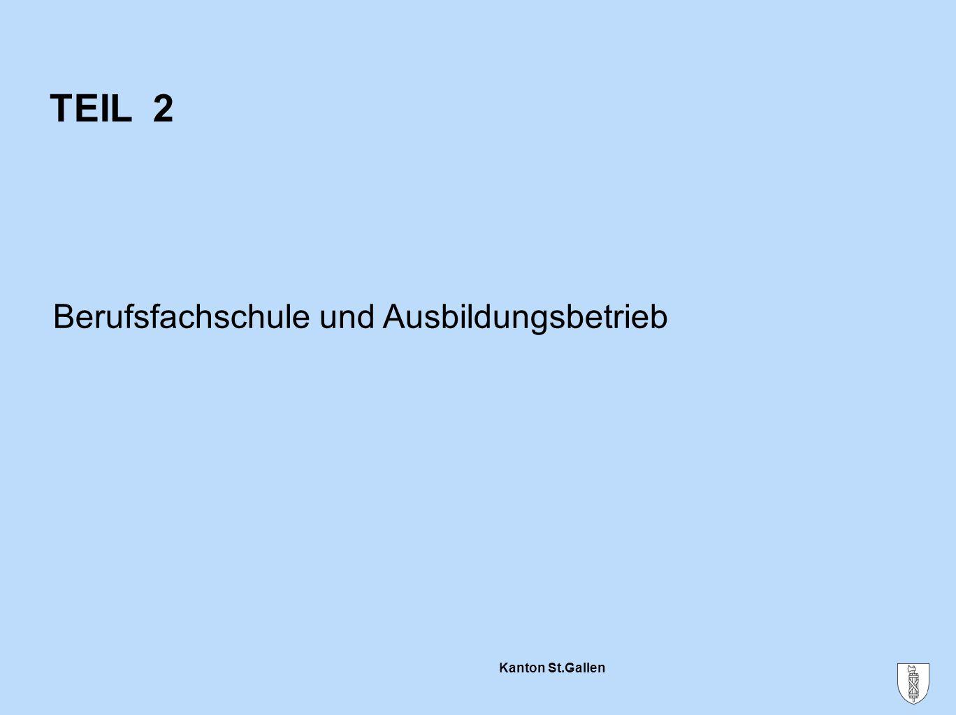 Kanton St.Gallen Technische Richtung Ein Schultag Fachkunde  Fächer je nach Beruf  z.