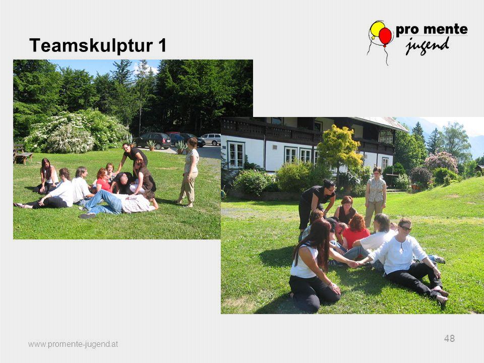 www.promente-jugend.at 48 Teamskulptur 1