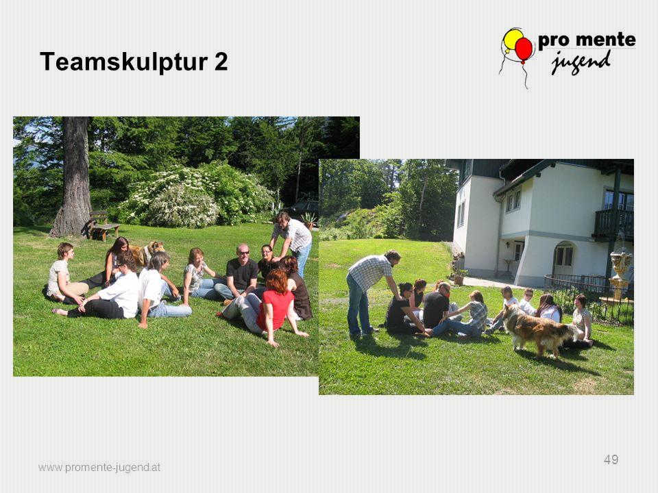 www.promente-jugend.at 49 Teamskulptur 2