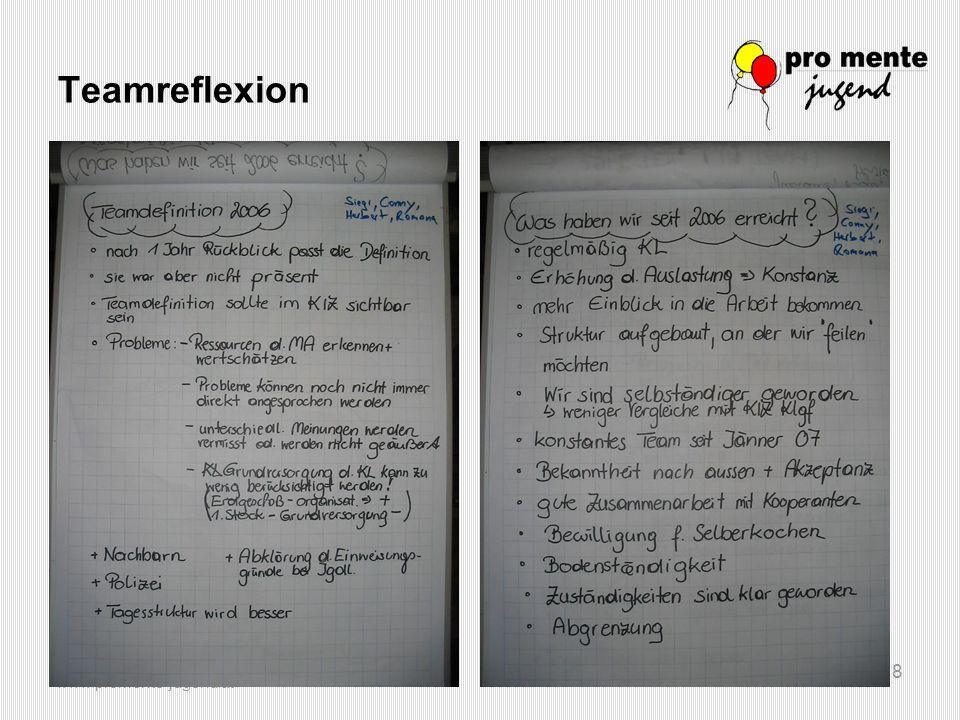 www.promente-jugend.at 9 Teamreflexion