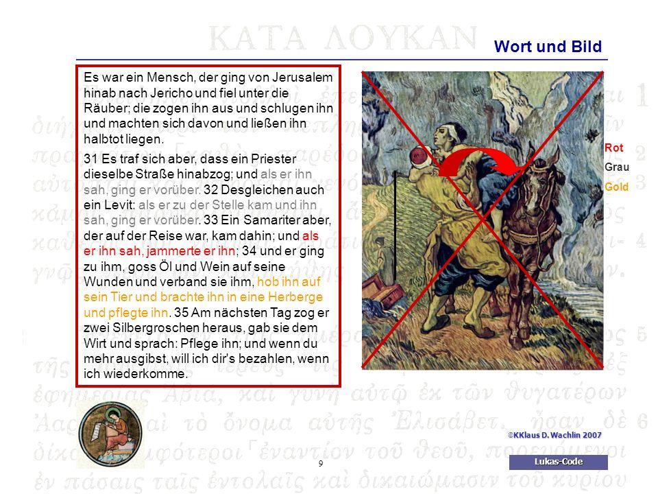 10Lukas-Code © KKlaus D.Wachlin 2007 Die Mitte Und er machte sich auf und kam zu seinem Vater.