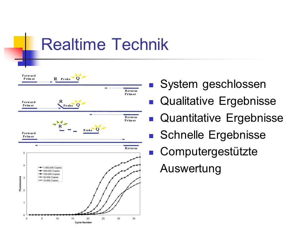 Realtime Technik System geschlossen Qualitative Ergebnisse Quantitative Ergebnisse Schnelle Ergebnisse Computergestützte Auswertung