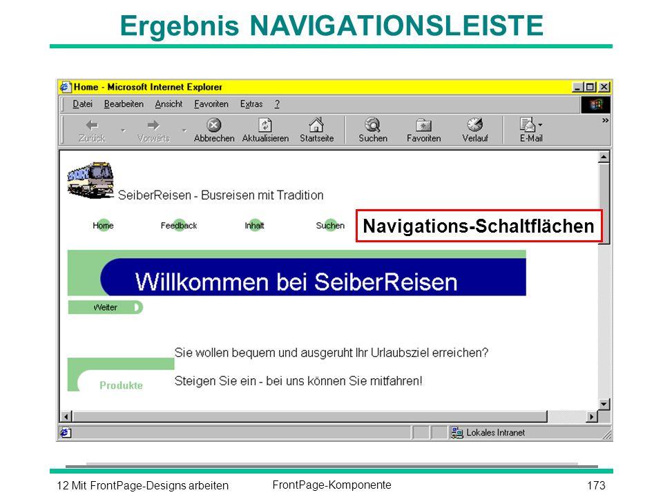 17312 Mit FrontPage-Designs arbeitenFrontPage-Komponente Ergebnis NAVIGATIONSLEISTE Navigations-Schaltflächen