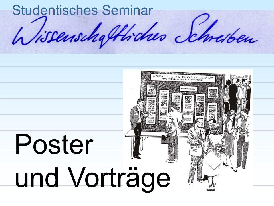 Studentisches Seminar Poster und Vorträge
