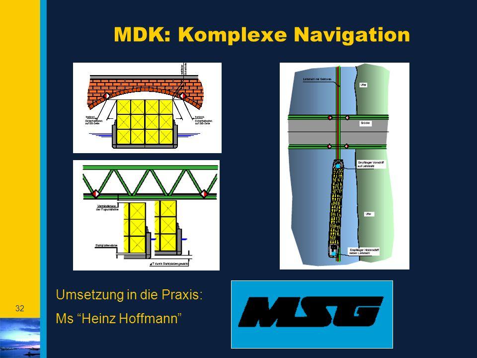 "32 MDK: Komplexe Navigation Umsetzung in die Praxis: Ms ""Heinz Hoffmann"""